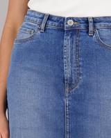Women's Emmeline Denim Pencil Skirt -  midblue