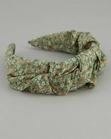 Women's Lacey Ruched Alice Band -  green