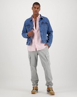Men's Dustin Slim Fit Linen Shirt -  dustypink