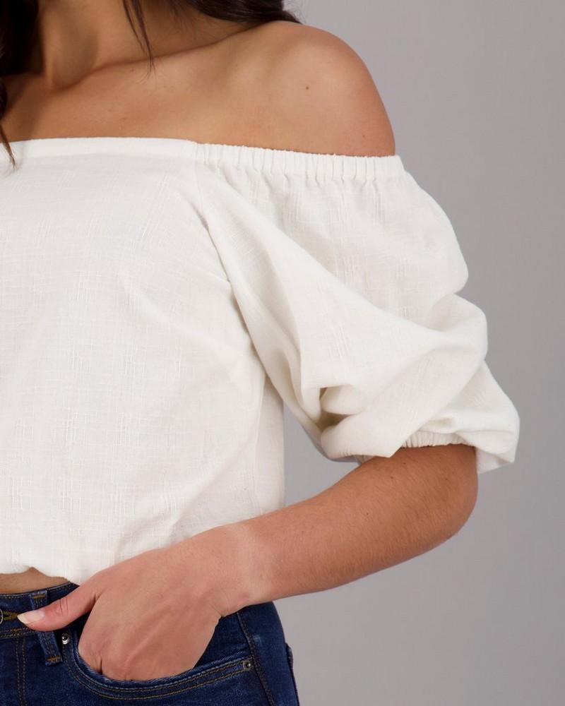 Women's Fern Blouse -  milk