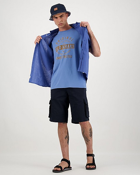 Men's Antonio Relaxed Fit T-Shirt -  midblue