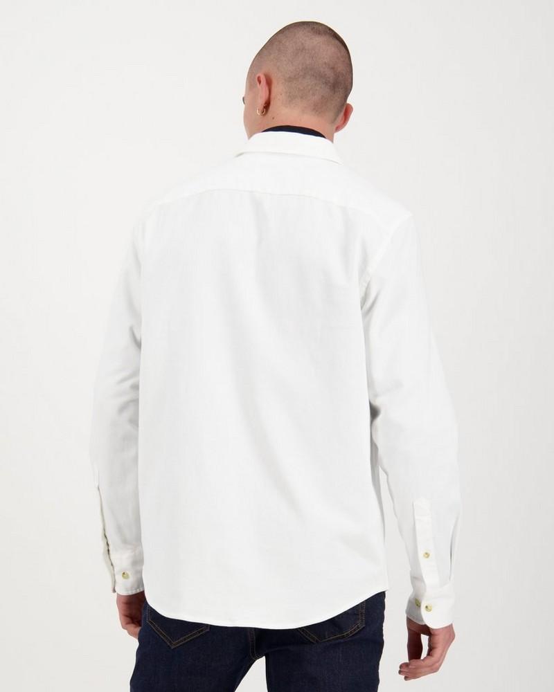 Men's Nate Regular Fit Shacket -  white