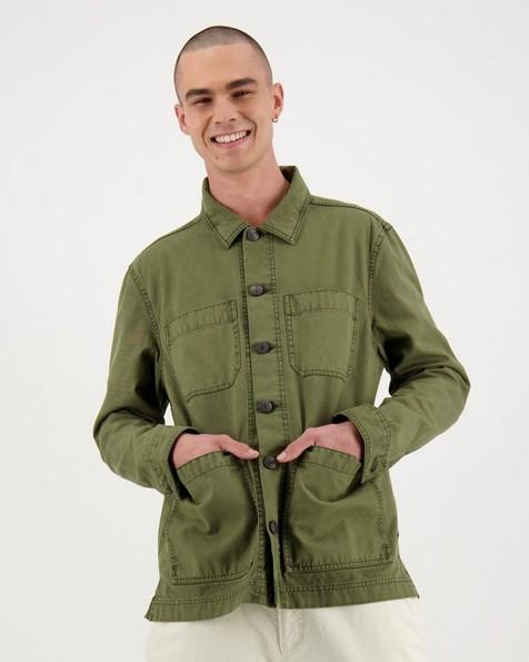 Men's Brody Trucker Jacket -  olive