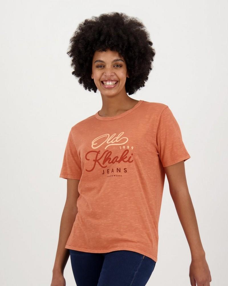 Women's Quin T-Shirt -  rust