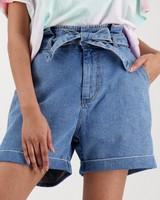 Women's Lola Denim Shorts -  lightblue