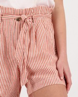 Women's Adela Linen Shorts -  rust