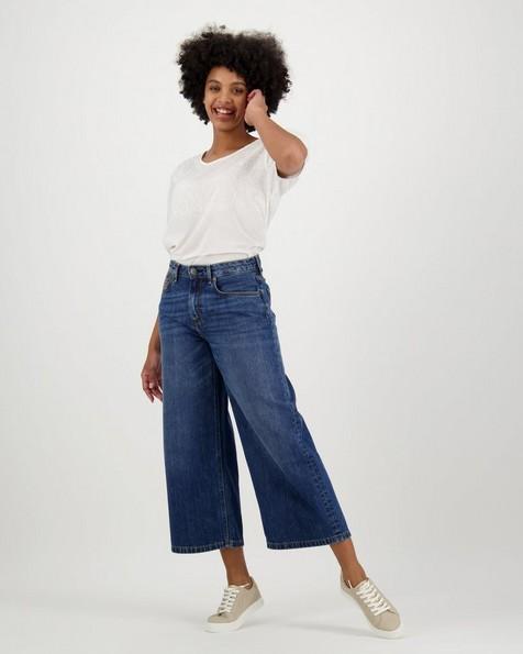 Women's Alma Wide-Leg Denim -  blue