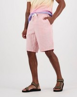Men's Aron Linen Shorts -  coral