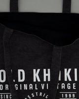 Denim Tote Bag -  black