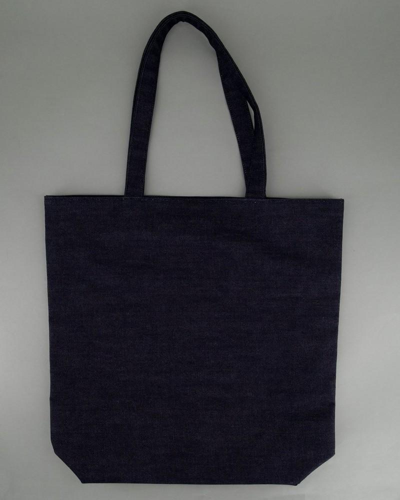 Denim Tote Bag -  navy