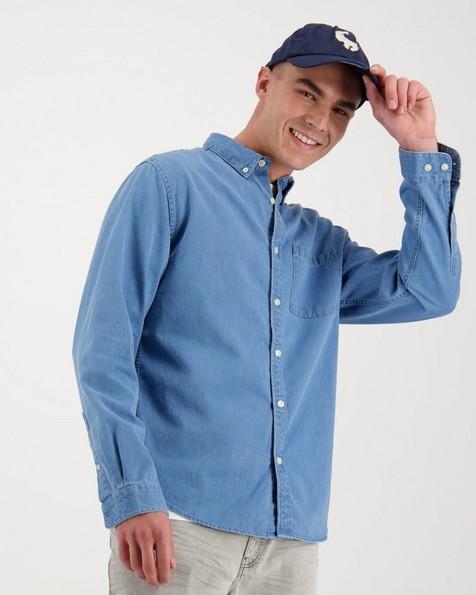 Men's William Slim Fit Denim Shirt -  blue