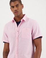 Men's Sawyer Slim Fit Linen Shirt -  pink