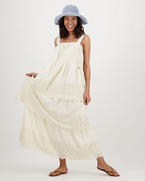 Women's Odette Tiered Dress -  milk