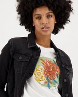 Women's Unathi Denim Jacket -  black