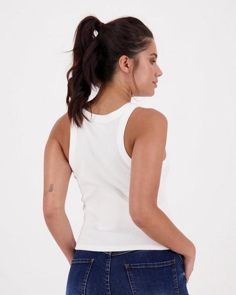 Women's Evella Ribbed Cami -  white