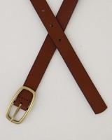 Women's Spencer Leather Belt -  brown