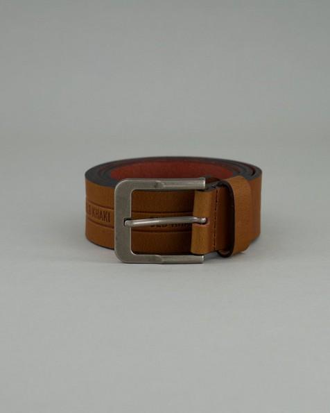Men's Tucker Branded Belt -  tan