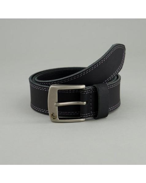 Men's Saul Leather Belt -  black