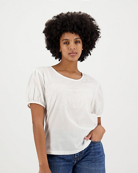Women's Imogen Top -  white