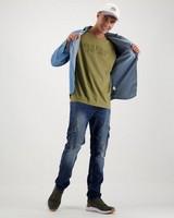 Men's Mayson Slim Cargo Denim -  midblue