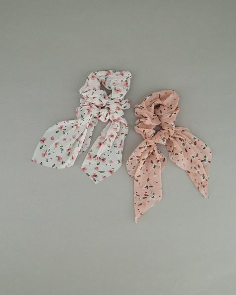 Women's Alexis 2-Pack Scrunchie Hair Ties -  pink