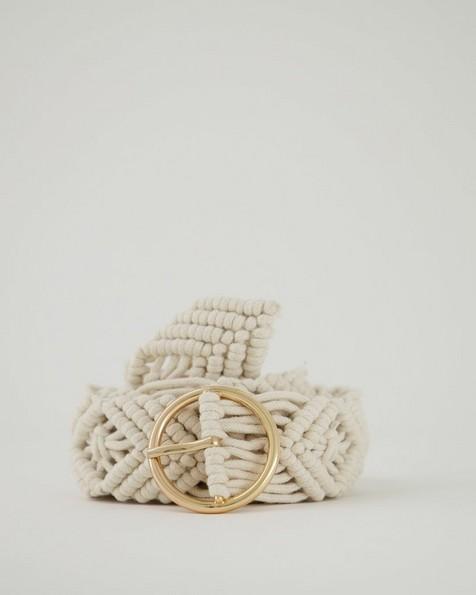Women's Cecilia Crochet Belt -  milk