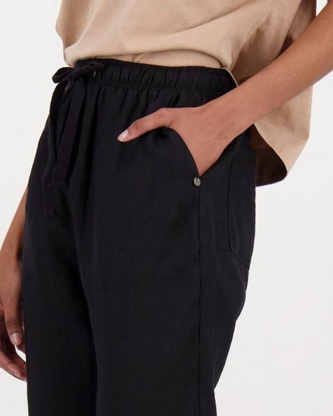 Women's Sierra Linen Pants -  black