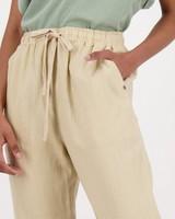 Women's Sierra Linen Pants -  stone