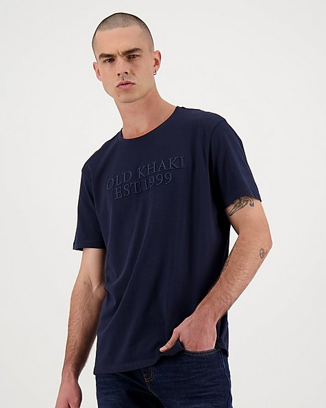 Men's Nathan Relaxed Fit T-Shirt -  navy