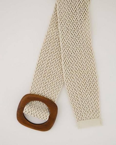 Women's Sienna Woven Belt -  milk