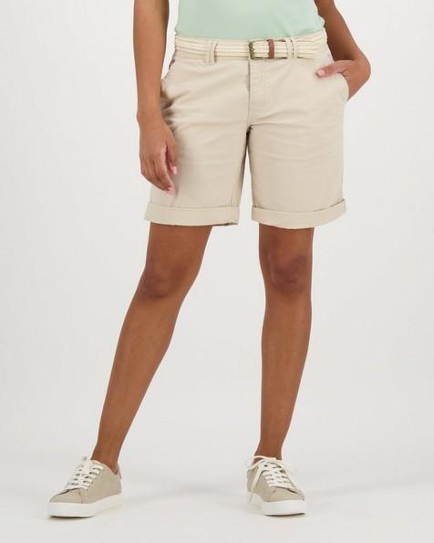 Women's Callia Belted Shorts -  stone