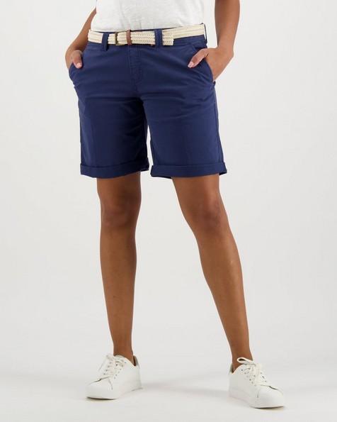 Women's Callia Belted Shorts -  navy