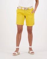 Women's Callia Belted Shorts -  yellow