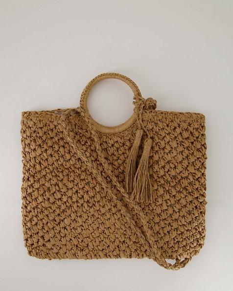 Women's Samaara Straw Bag -  oatmeal
