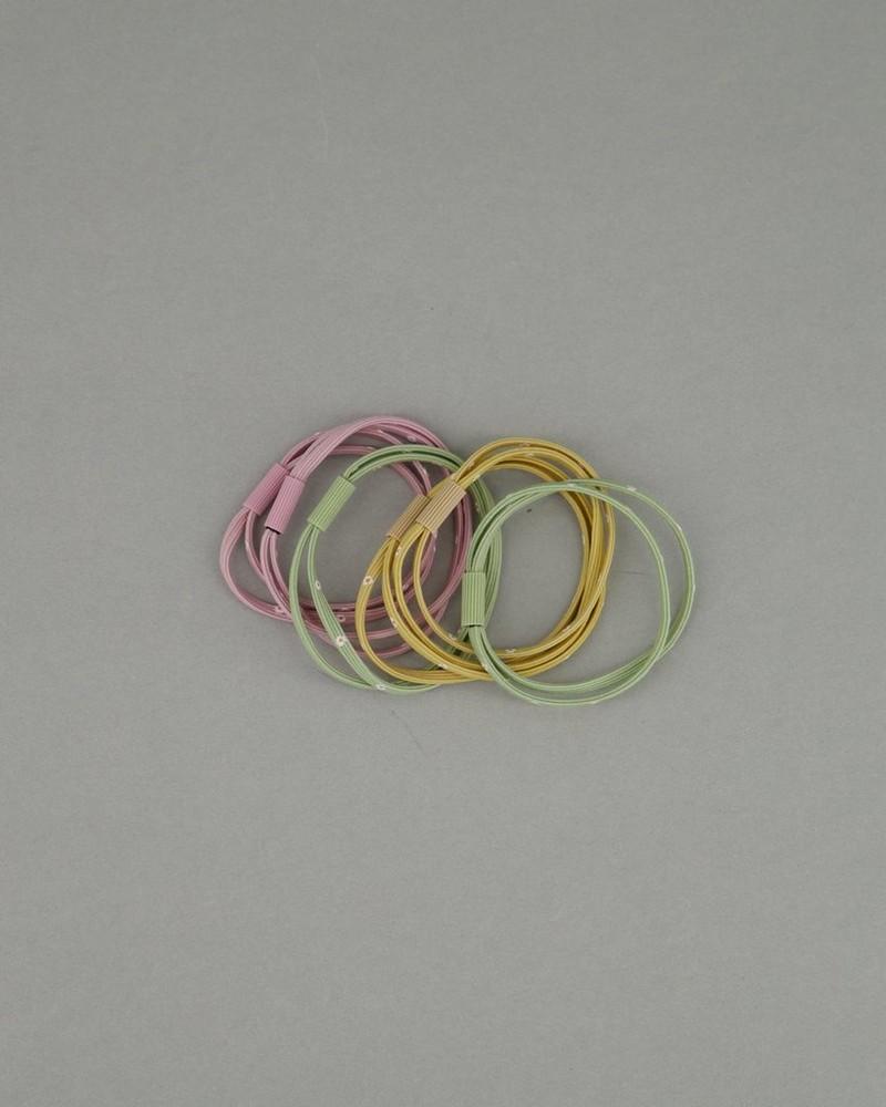 Women's Kerryn 6-Pack Hair Elastics -  pink