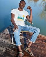 Men's Tanner Standard Fit T-Shirt -  white