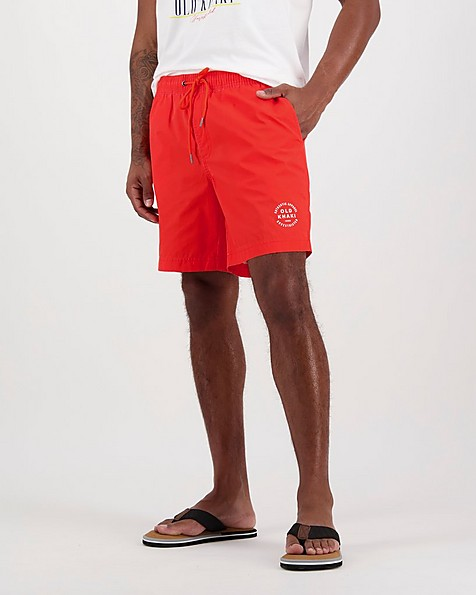 Men's Bash Swim Shorts -  red