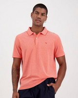 Men's Robbie Relaxed Fit Golfer -  coral