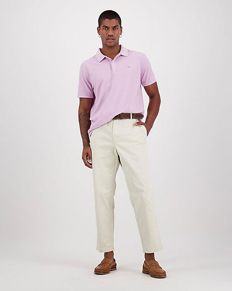 Men's Robbie Relaxed Fit Golfer -  lilac