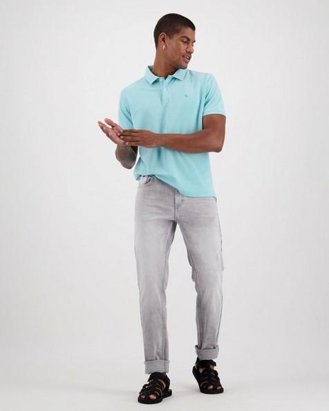 Men's Robbie Relaxed Fit Golfer -  aqua