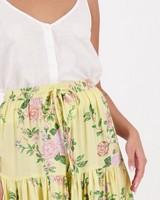 Women's Posie Tiered Skirt -  yellow