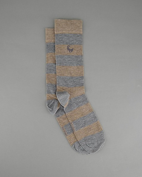 Men's Donny Stripe Sock -  oatmeal