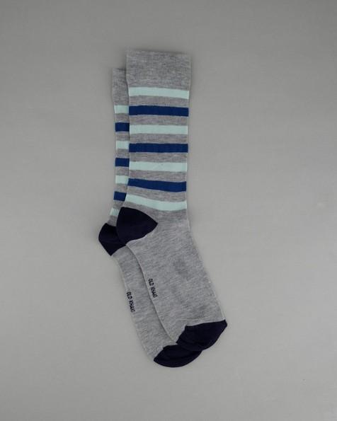 Men's Trey Stripe Sock -  grey