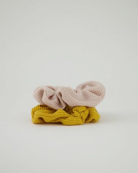 Women's Iona 2-Pack Scrunchie Hair Ties -  yellow