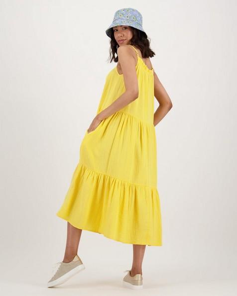 Women's Lori Tiered Dress -  ochre