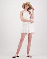 Women's Britt Playsuit -  white