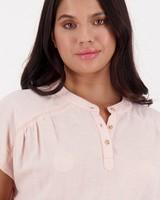 Women's Heather Blouse -  palepink