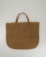 Women's Hadley Straw Tote Bag -  oatmeal
