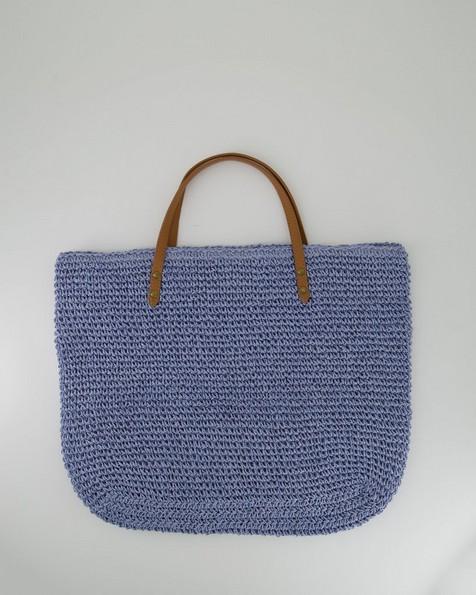 Women's Hadley Straw Tote Bag -  lightblue