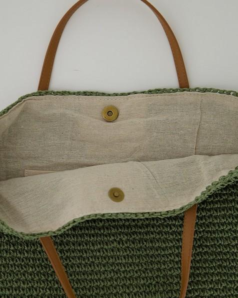 Women's Hadley Straw Tote Bag -  sage